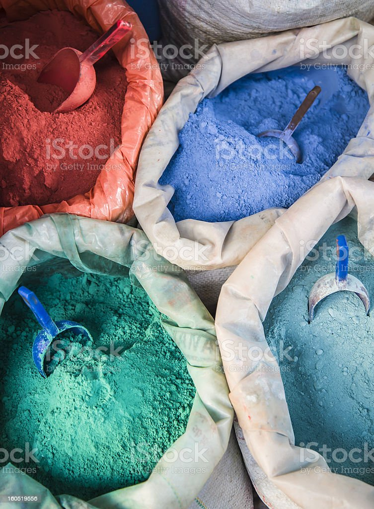 Colorful pigments royalty-free stock photo