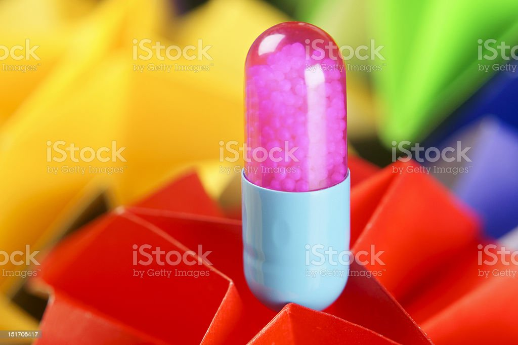 Colorful pill abstract royalty-free stock photo