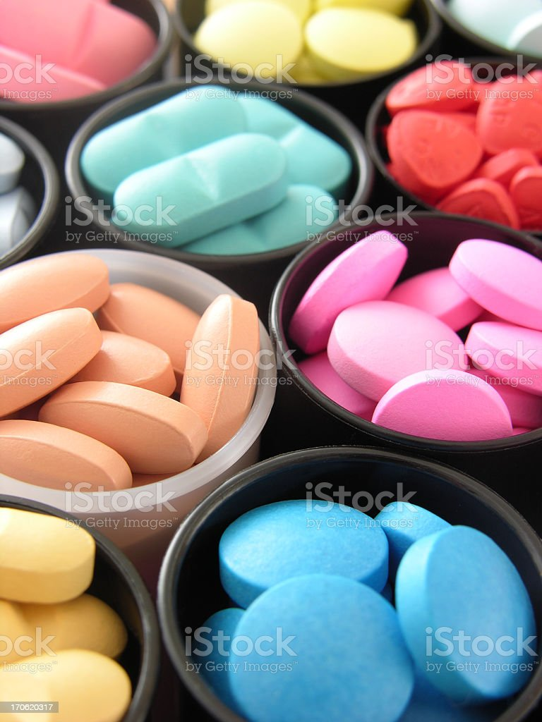 Colorful pills royalty-free stock photo