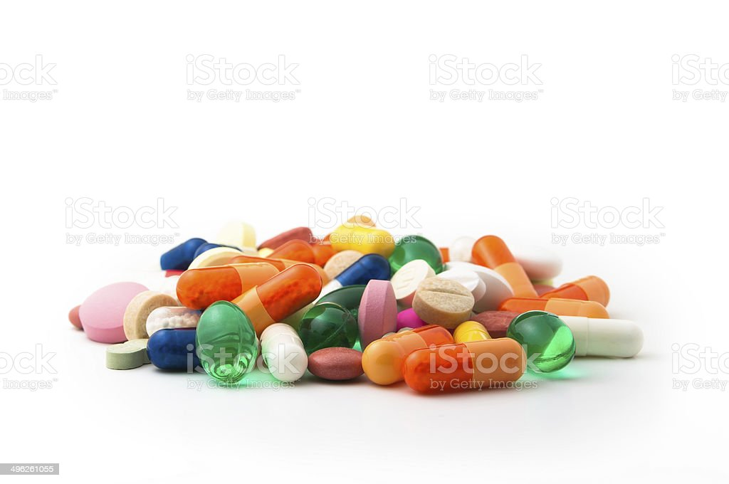 Colorful pills stock photo