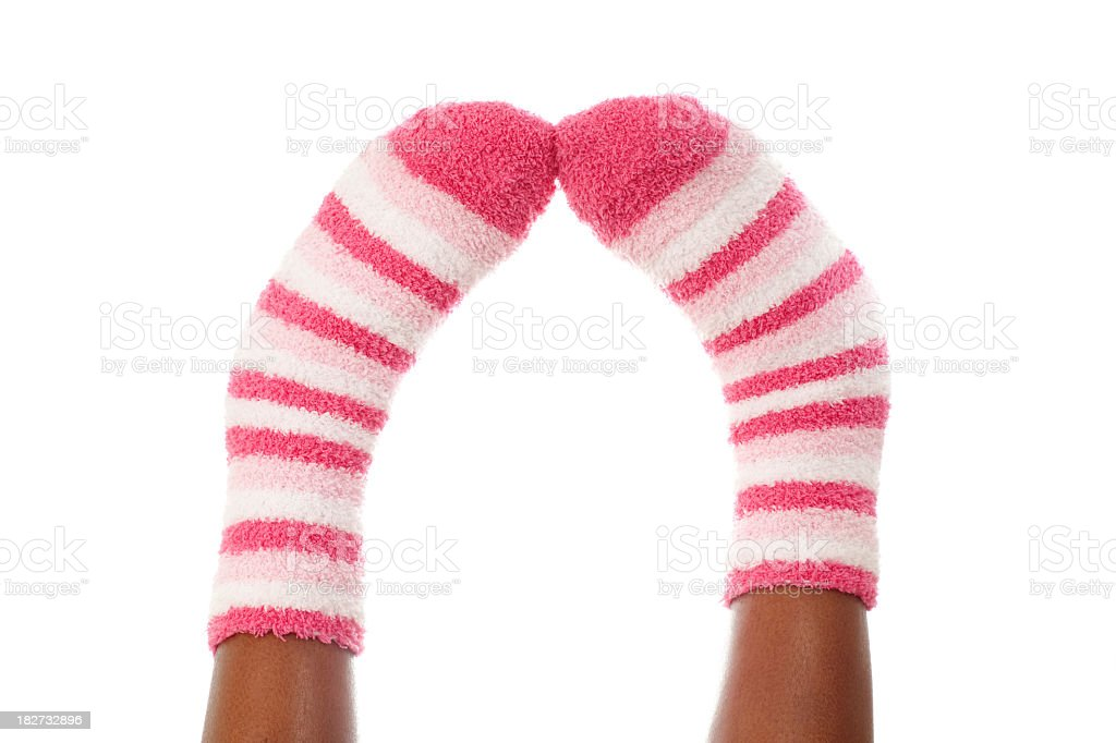Colorful pink socks royalty-free stock photo