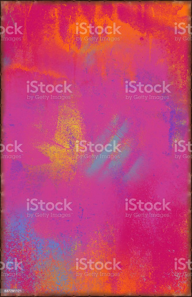Colorful Pink Texture with Rusty Seams Along Edges stock photo