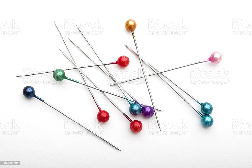 Colorful pins royalty-free stock photo