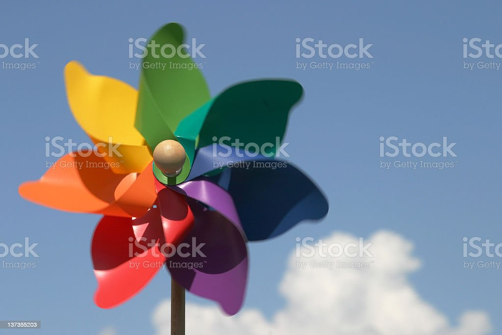 Colorful pinwheel (windmill) royalty-free stock photo