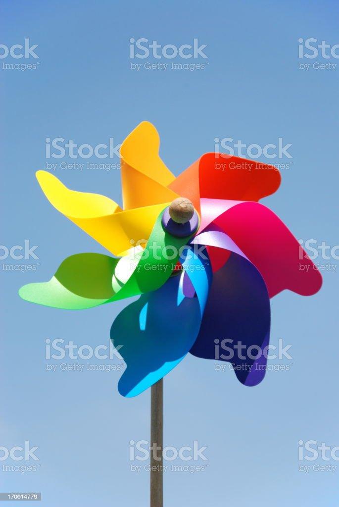 Colorful pinwheel royalty-free stock photo