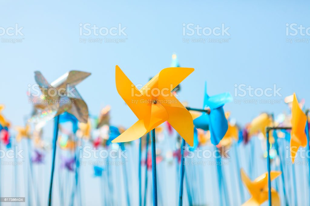 Colorful pinwheel stock photo