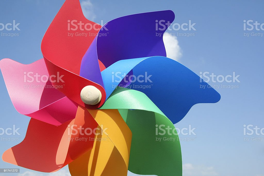 colorful pinwheel toy royalty-free stock photo