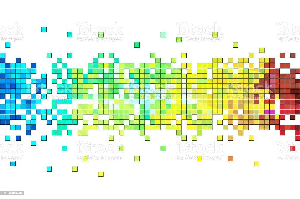 Colorful pixels design stock photo