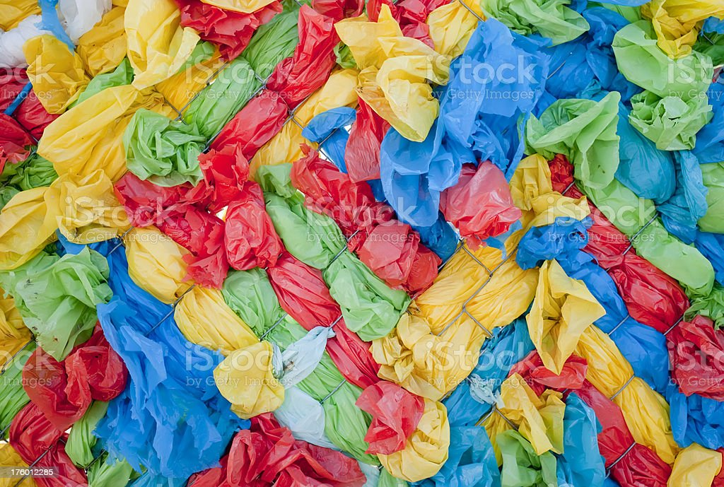 Colorful Plastic Bag Background royalty-free stock photo