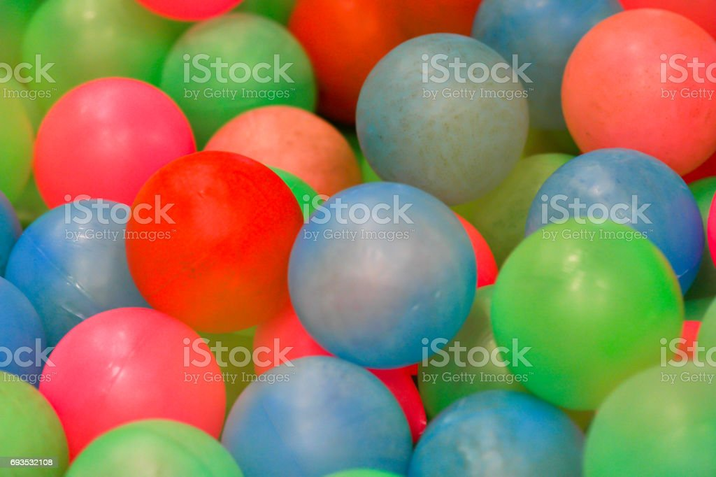 Colorful plastic balls. stock photo