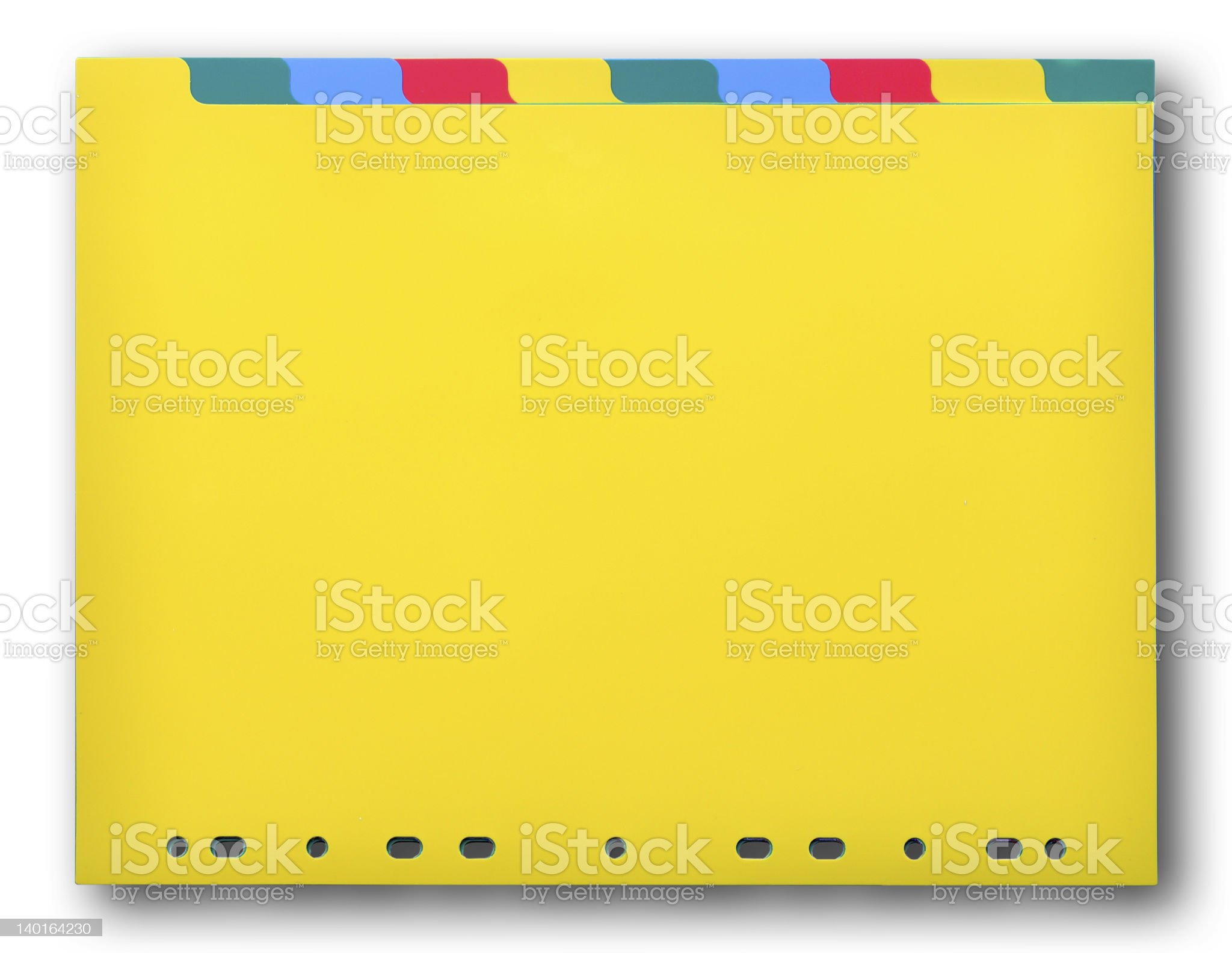 Colorful plastic index sheet royalty-free stock photo