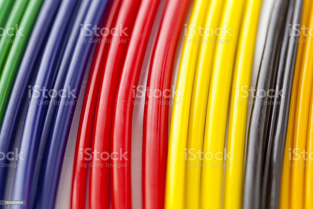 Colorful plastic masterbatch tubes stock photo