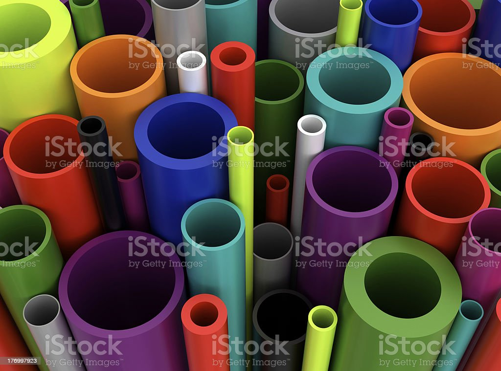 Colorful Plastic Pipes stock photo