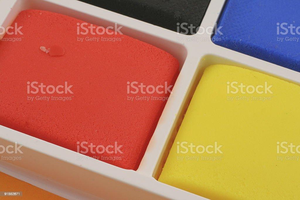 colorful plasticine blocks royalty-free stock photo