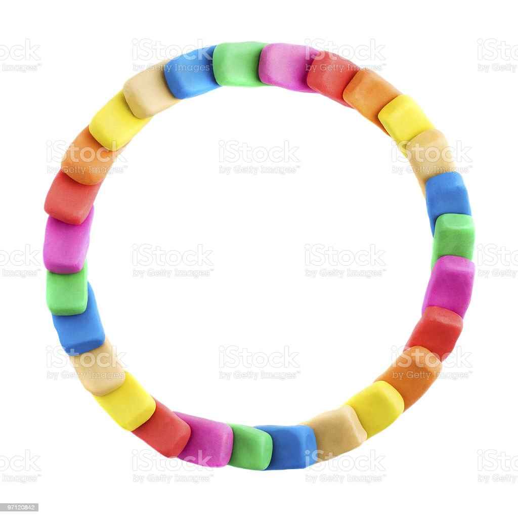 Colorful plasticine circle royalty-free stock photo