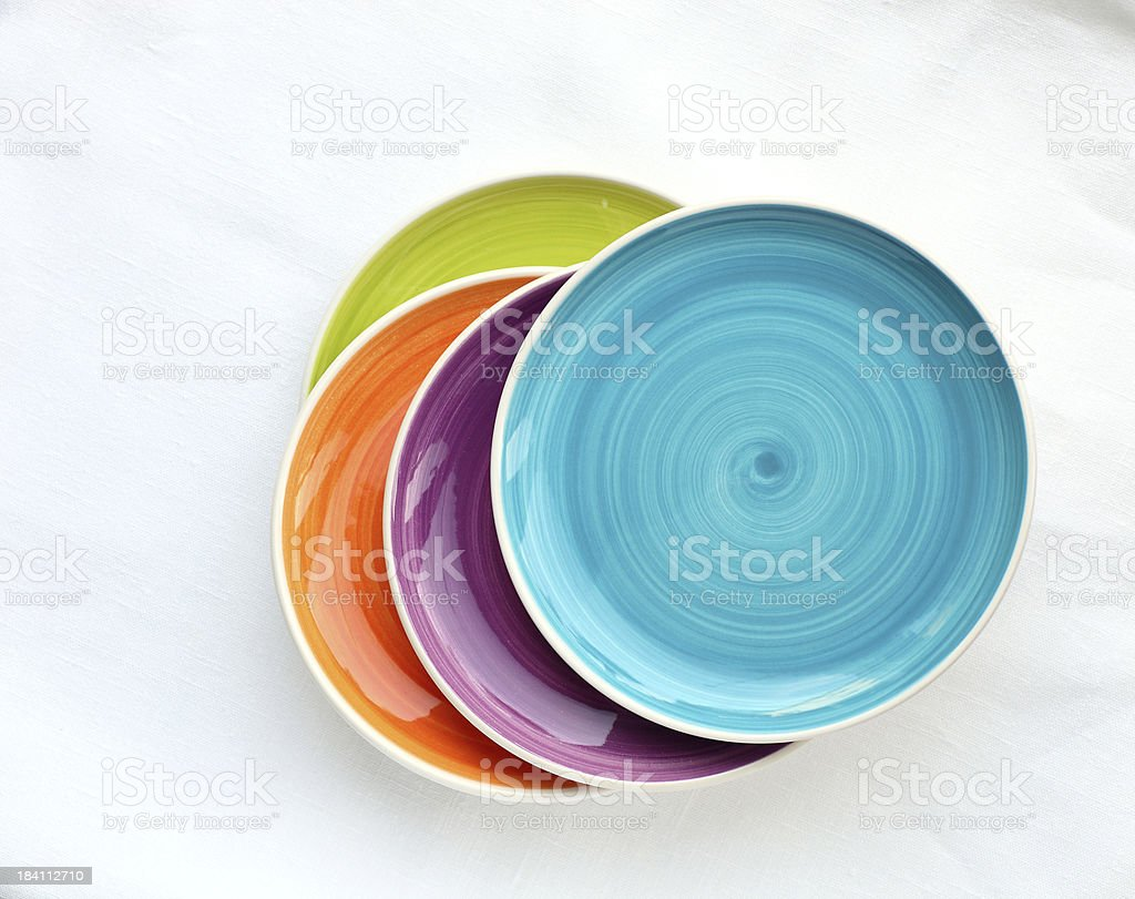 Colorful Plates royalty-free stock photo