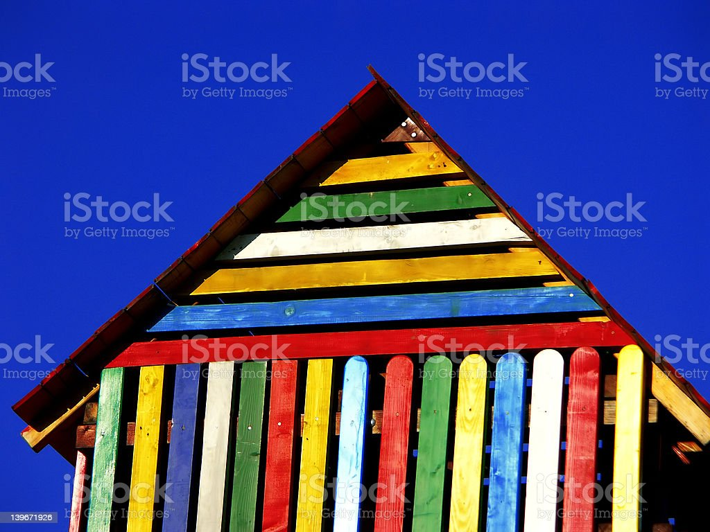 Colorful play house royalty-free stock photo