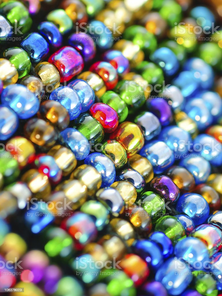 Colorful polished glass beads background royalty-free stock photo