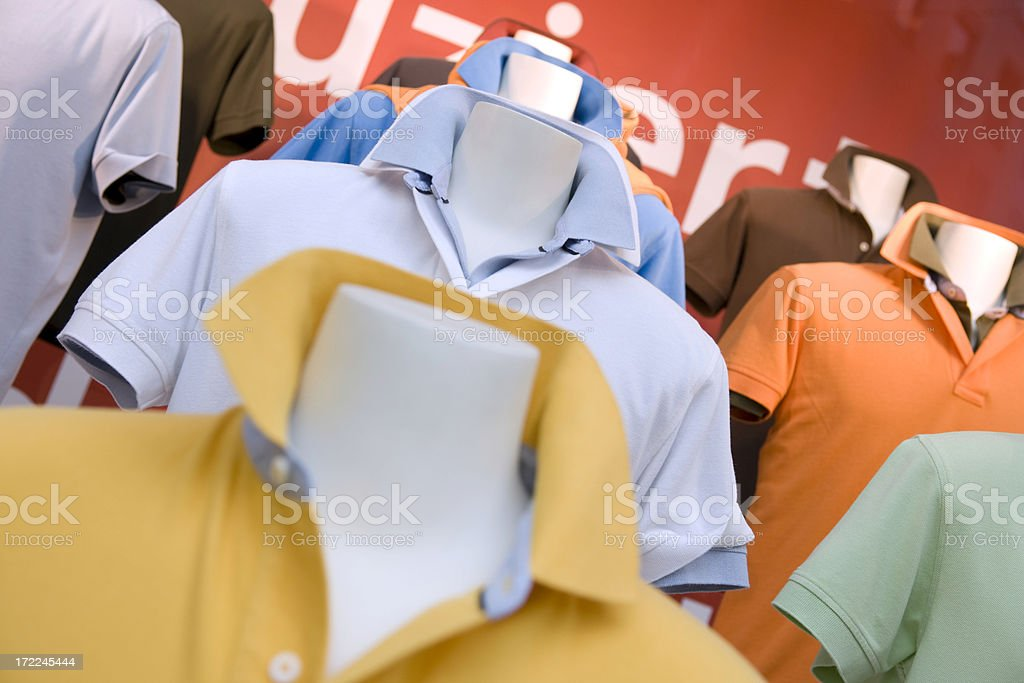 Colorful Polos royalty-free stock photo