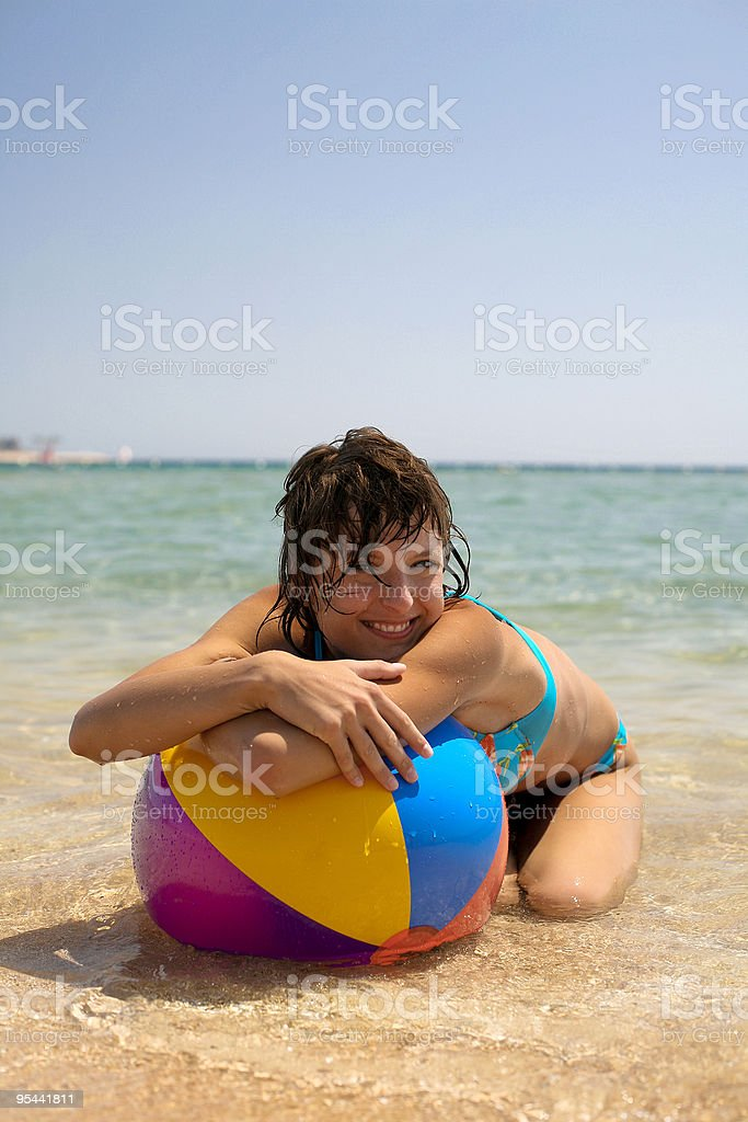 Colorful & Positive Girl royalty-free stock photo
