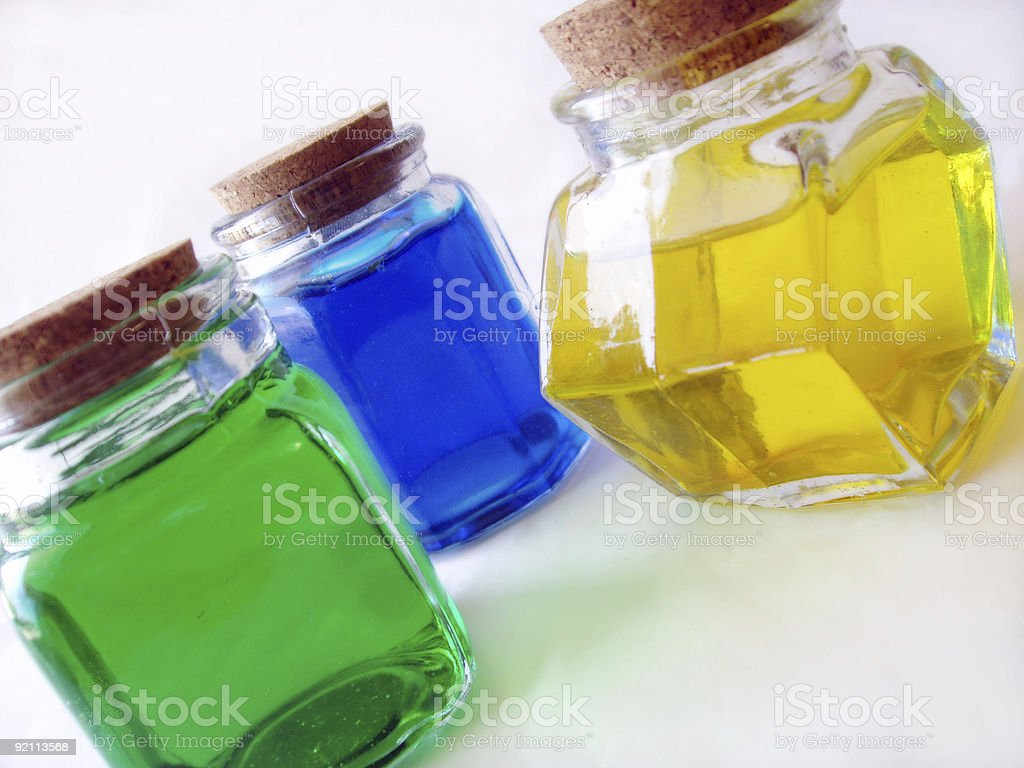 colorful potions and lotions royalty-free stock photo