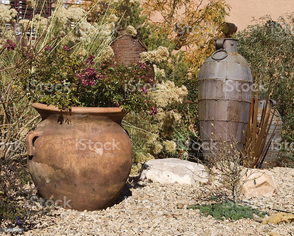 Colorful Pots royalty-free stock photo