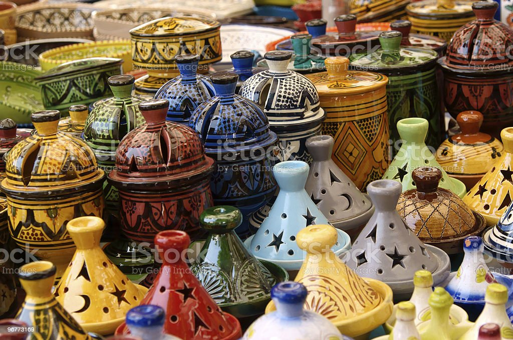 Colorful pottery stock photo