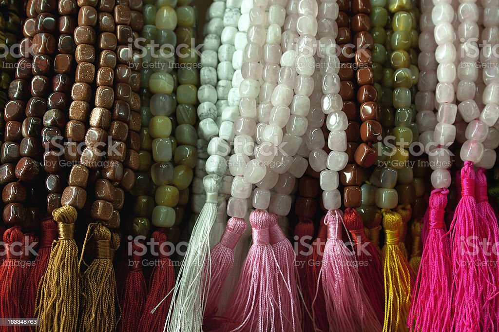Colorful rosary beads. royalty-free stock photo