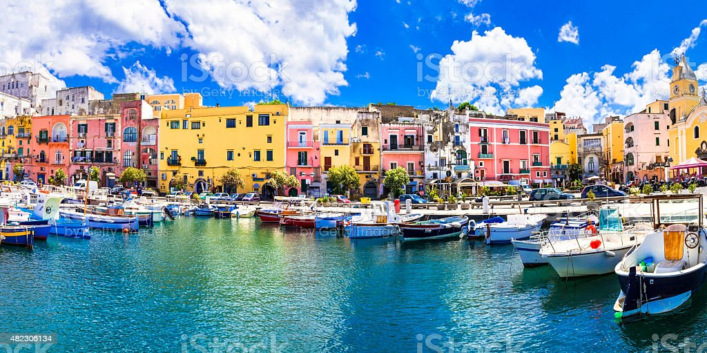 Colorful Procida Island,Campania,Italy stock photo