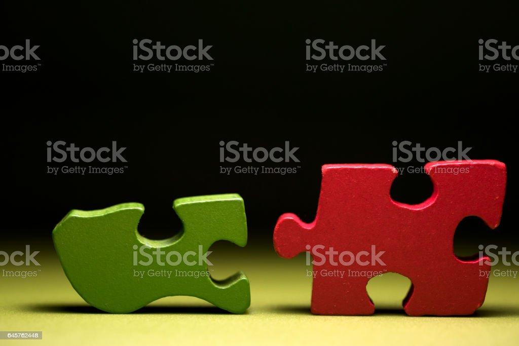 Colorful Puzzle Pieces stock photo