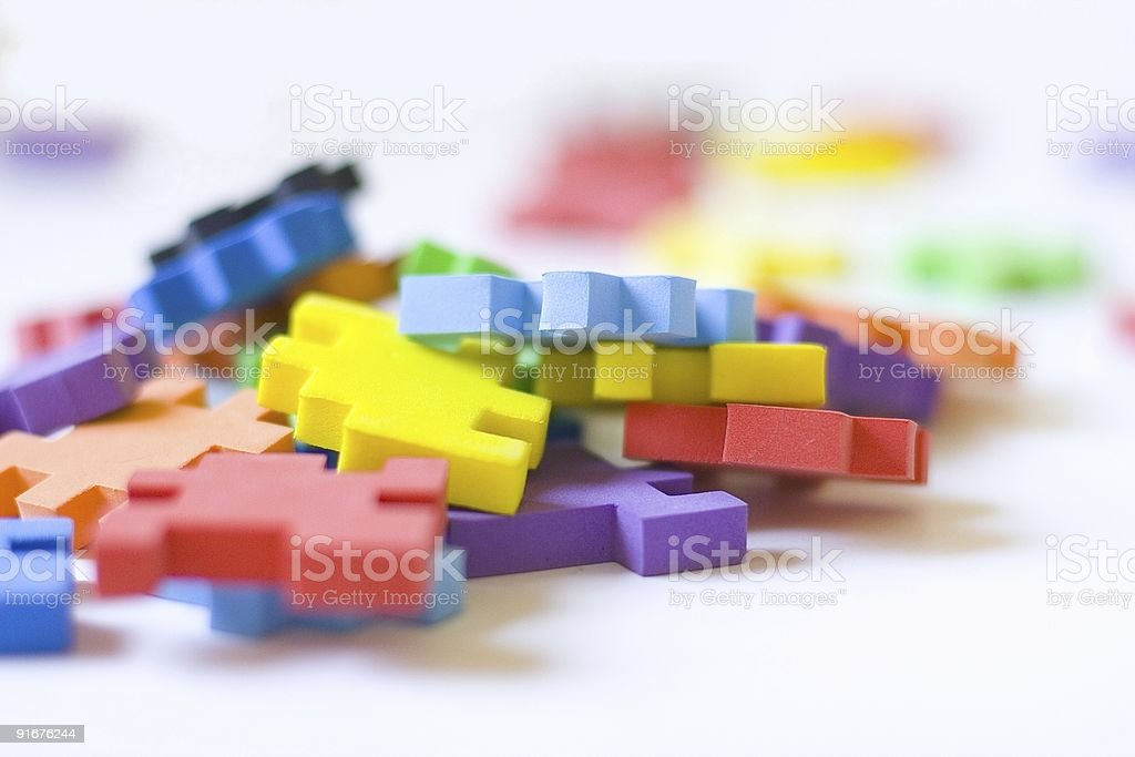 colorful puzzles royalty-free stock photo