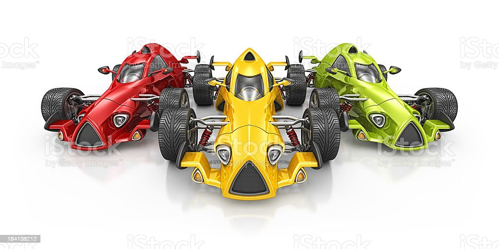 colorful racecars royalty-free stock photo