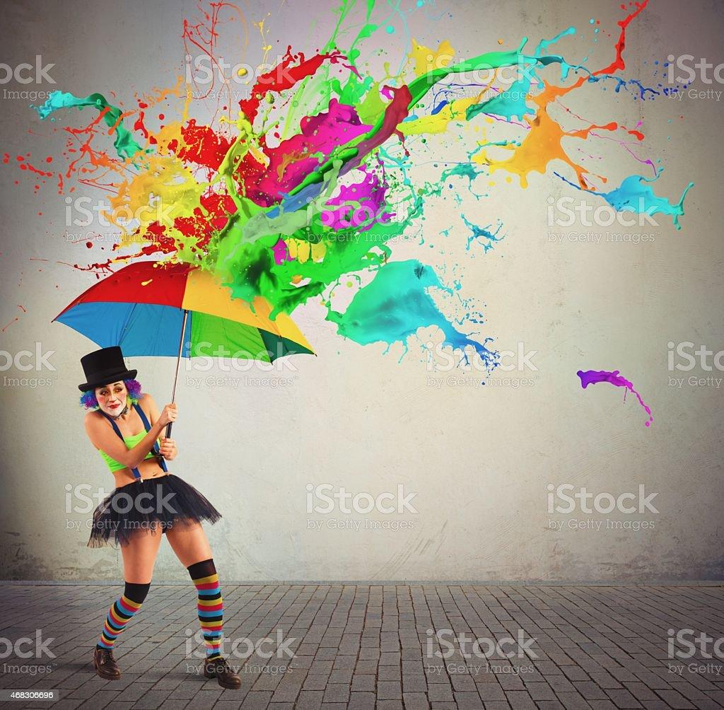 Colorful rain stock photo