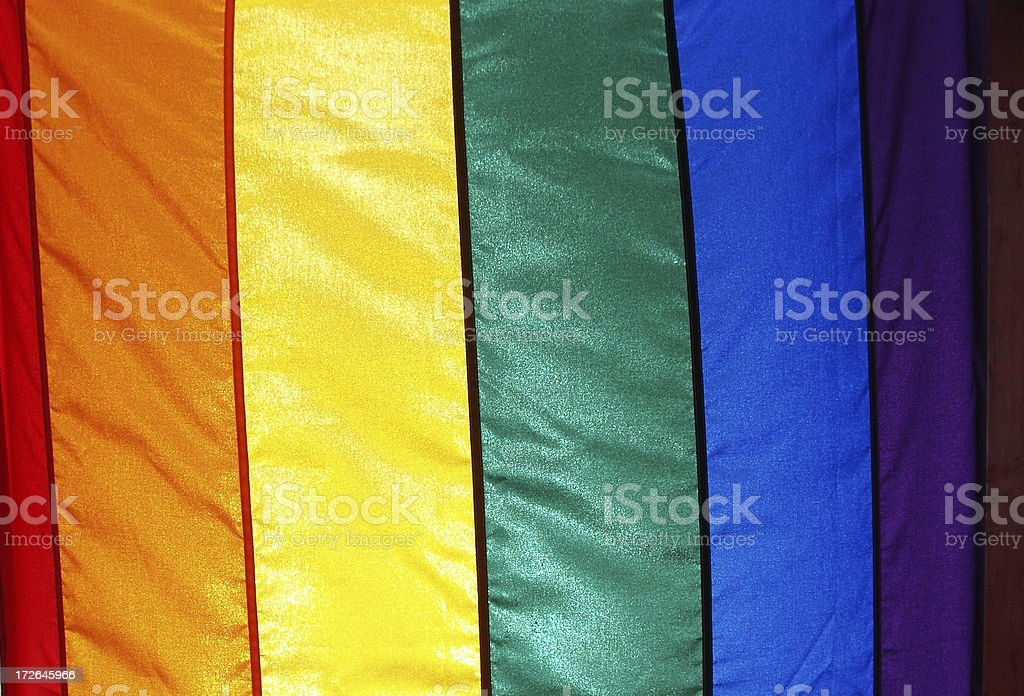 Colorful Rainbow Flag royalty-free stock photo