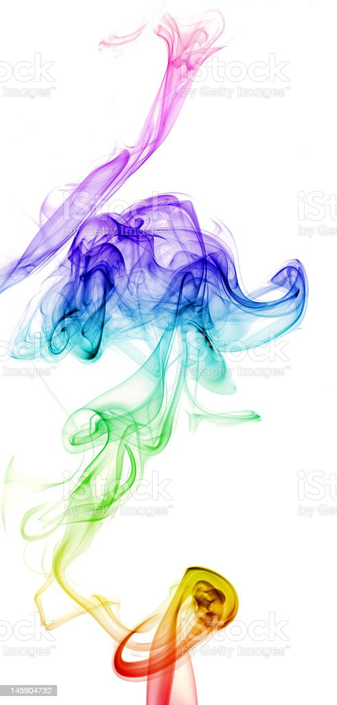 Colorful Rainbow Smoke royalty-free stock photo