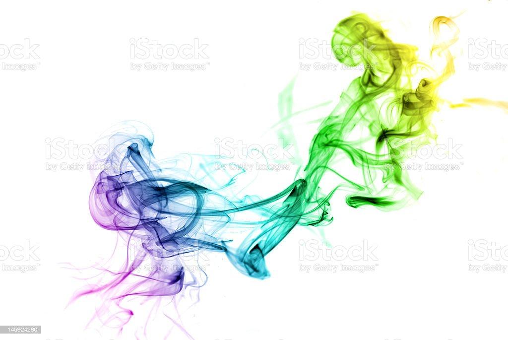 Colorful Rainbow Smoke royalty-free stock photo