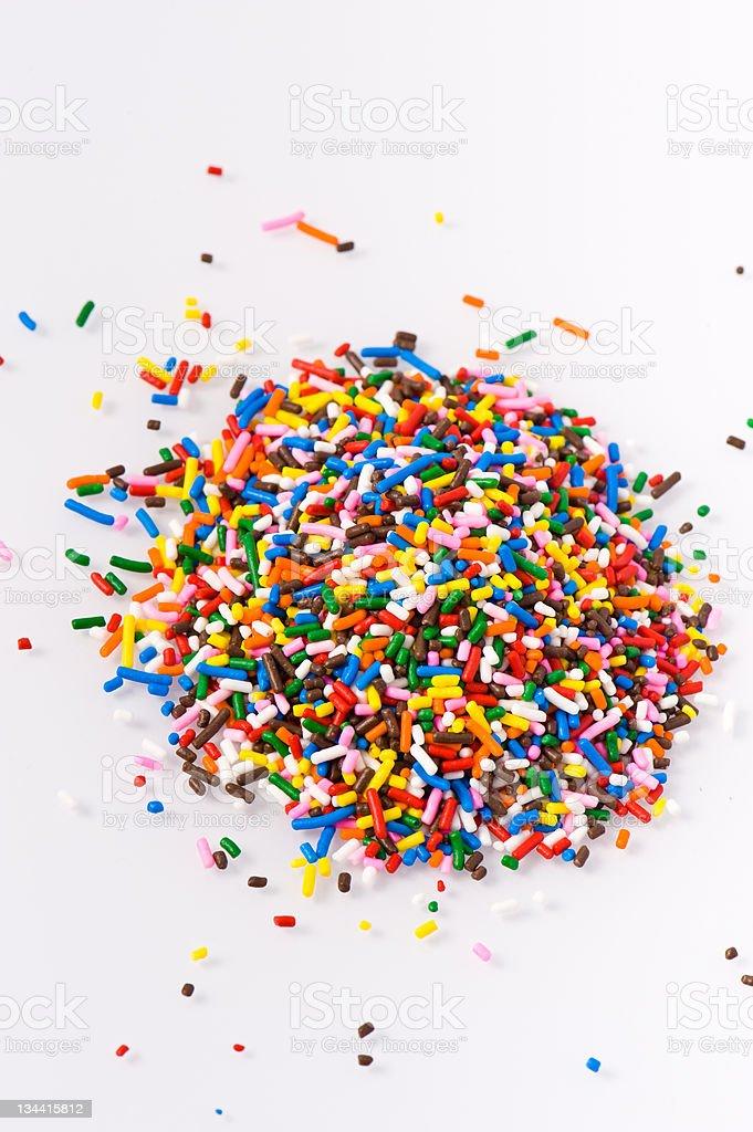 Colorful Rainbow Sprinkles royalty-free stock photo