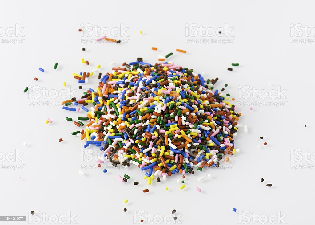 Colorful Rainbow Sprinkles royalty-free stock photo