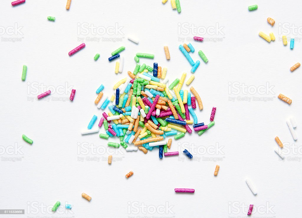 Colorful Rainbow Sprinkles - Stock Image stock photo
