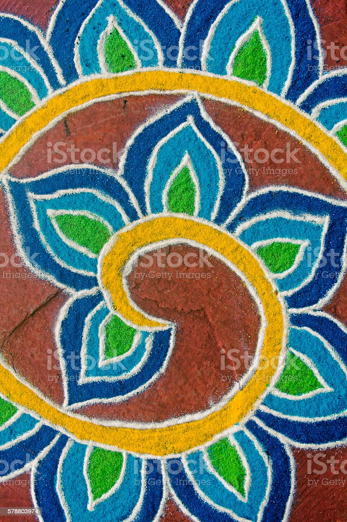 Colorful Rangoli stock photo