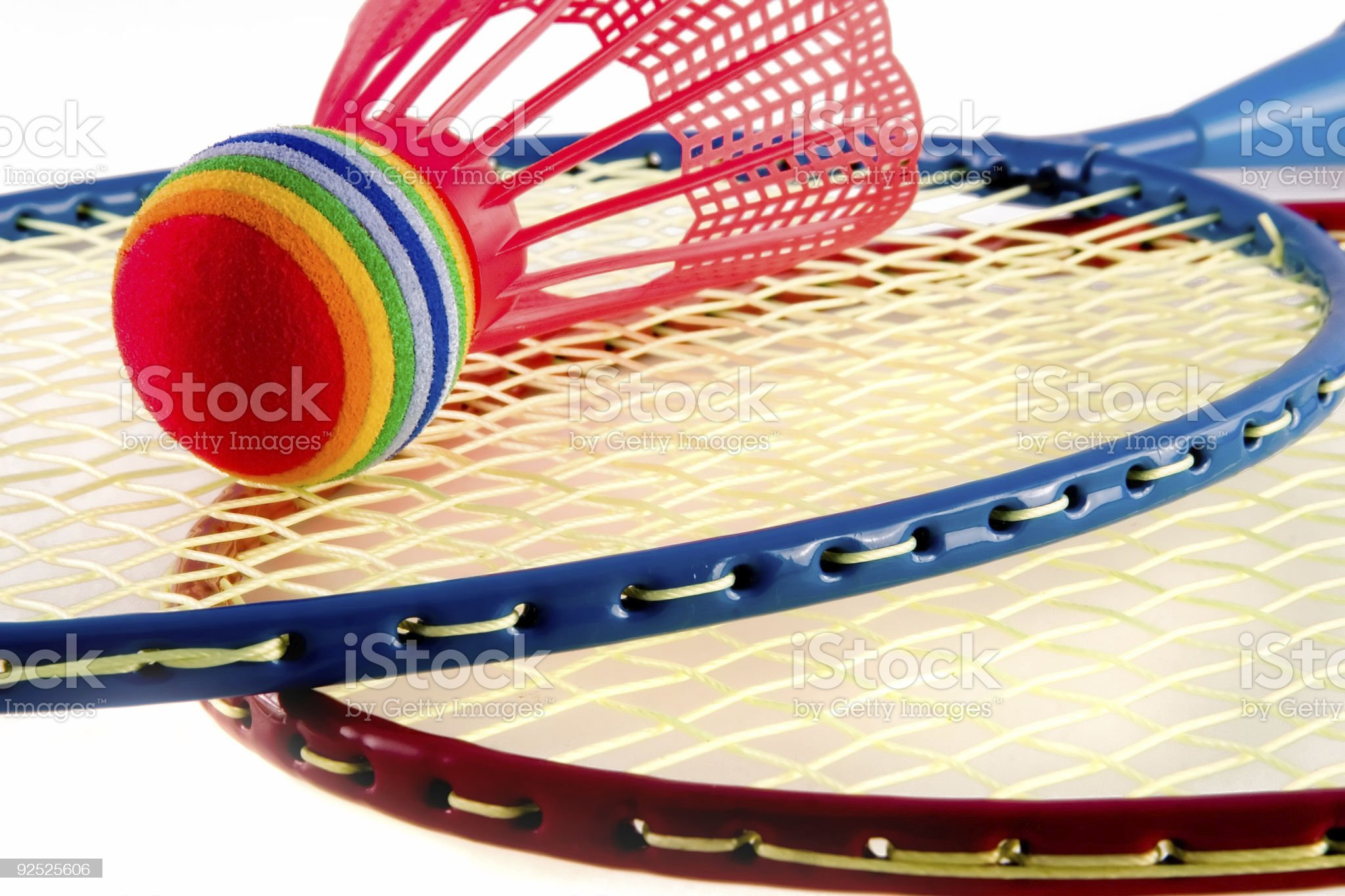Colorful Raquet Sports royalty-free stock photo