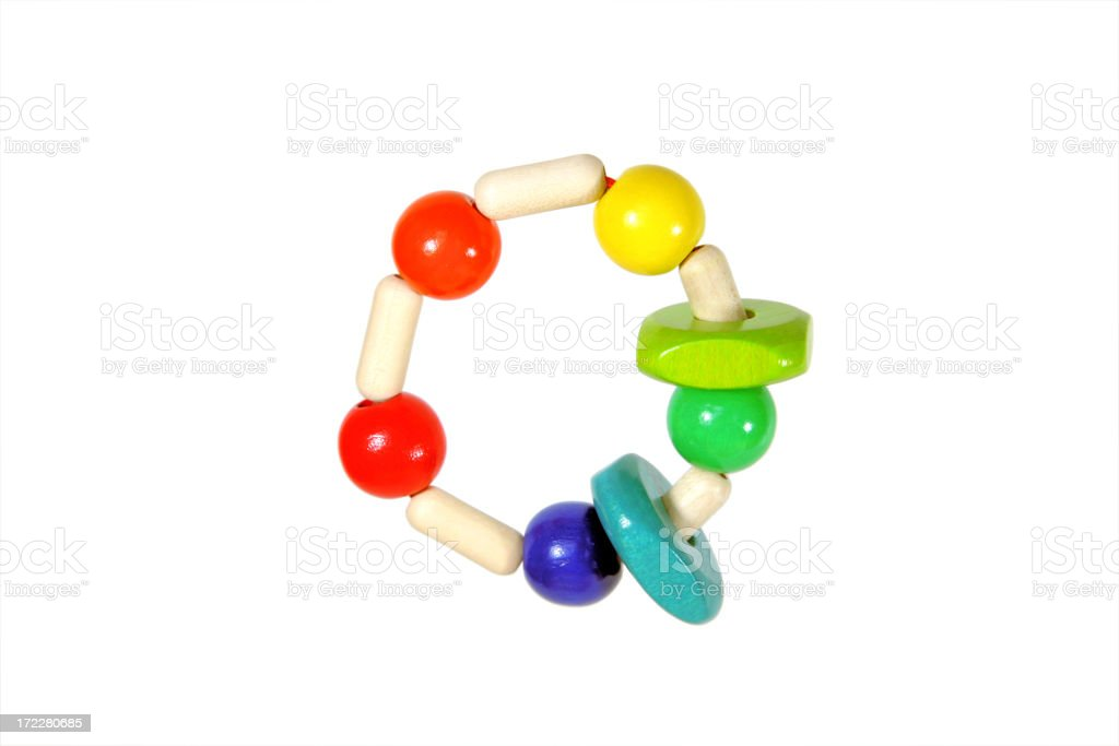 Colorful rattle stock photo