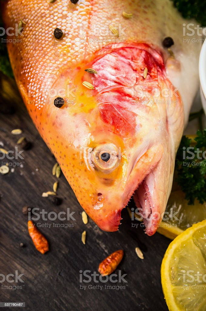 colorful raw rainbow trout stock photo
