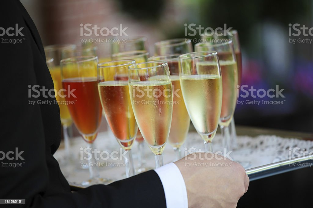 Colorful reception glasses royalty-free stock photo