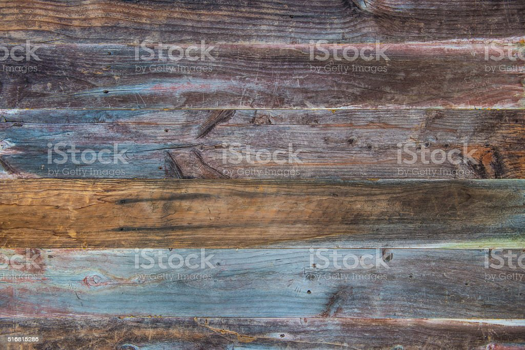 Colorful Reclaimed Wood Background stock photo