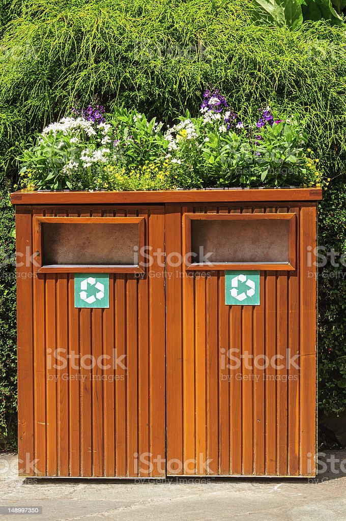 Colorful Recycling bin stock photo