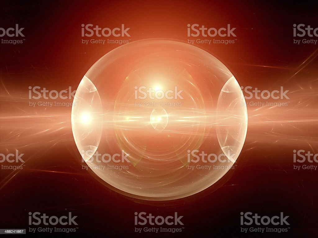 Colorful red plasma sphere royalty-free stock photo