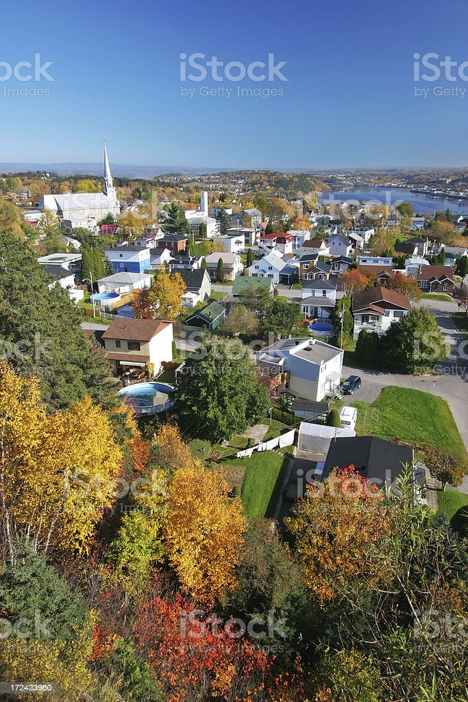 Colorful Residential Area in Saguenay City stock photo