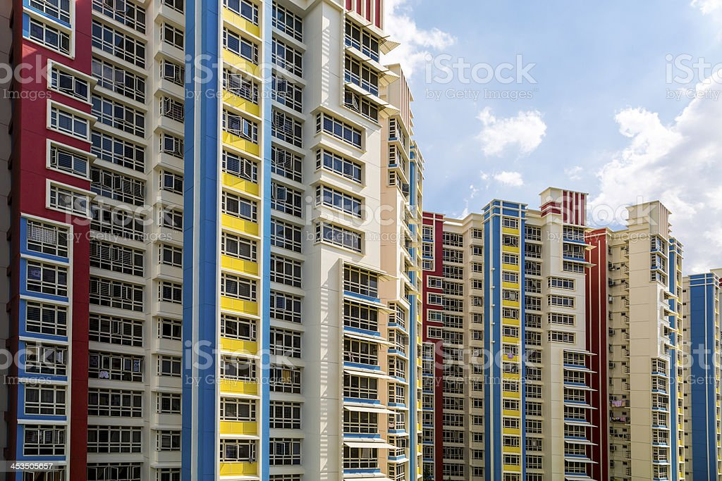 Colorful residential estate royalty-free stock photo