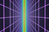 Colorful retro grid background